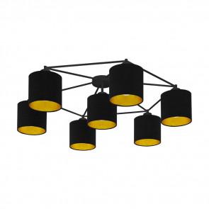 Staiti, E27, 7-flammig, mit Schirm, schwarz