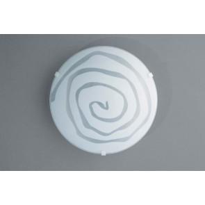 Charlize, Ø 25,5 cm, weiß, Motiv Spirale