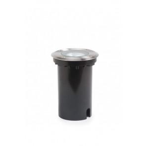 Boden-EBL Ø 11 cm metallisch 1-flammig rund