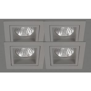 Quadro 4er-Set 8,2 x 8,2 cm metallisch 1-flammig quadratisch