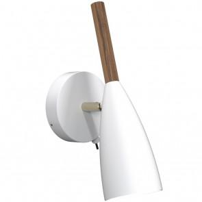 Pure, Höhe 26 cm, IP20, mit Schalter, schwenkbar, weiß