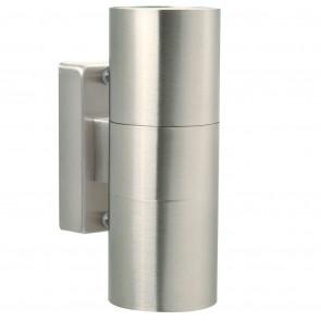 Tin Höhe 17 cm metallisch 2-flammig zylinderförmig